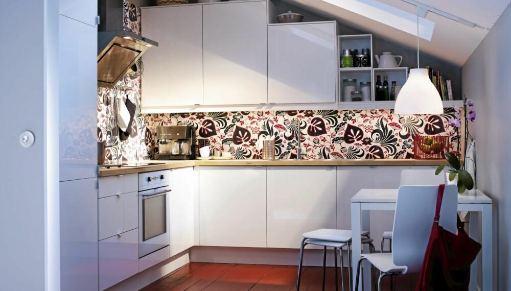 PRAKRTISK FAVORITT: Interiørstylist Signe Schineller elsker Abstrakt skapene fra Ikea, siden de kan brukes i utallige sammenhenger.