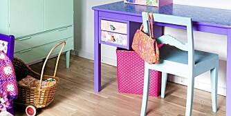 FARGEFEST: De fleste barn elsker farger, så med noen malingstrøk kan du forandre utdaterte møber på 1-2-3. Husk at du også kan tapetsere møbler.