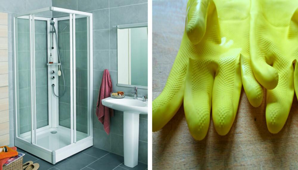 VASKESKREKK: Mange forbinder å vaske dusjkabinettet med blod, svette og tårer