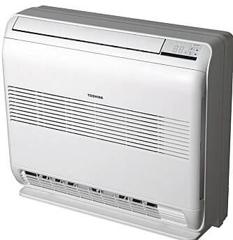 GULVMODELL: Toshiba har en gulvmodell som kan være et godt alternativ for deg som ønsker en diskret varmepumpe. Prisen er satt til 21.990 kroner.