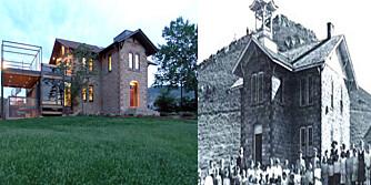 GJENBRUK: Den gamle skolen stod ubrukt helt til familien gjorde hjem av det.