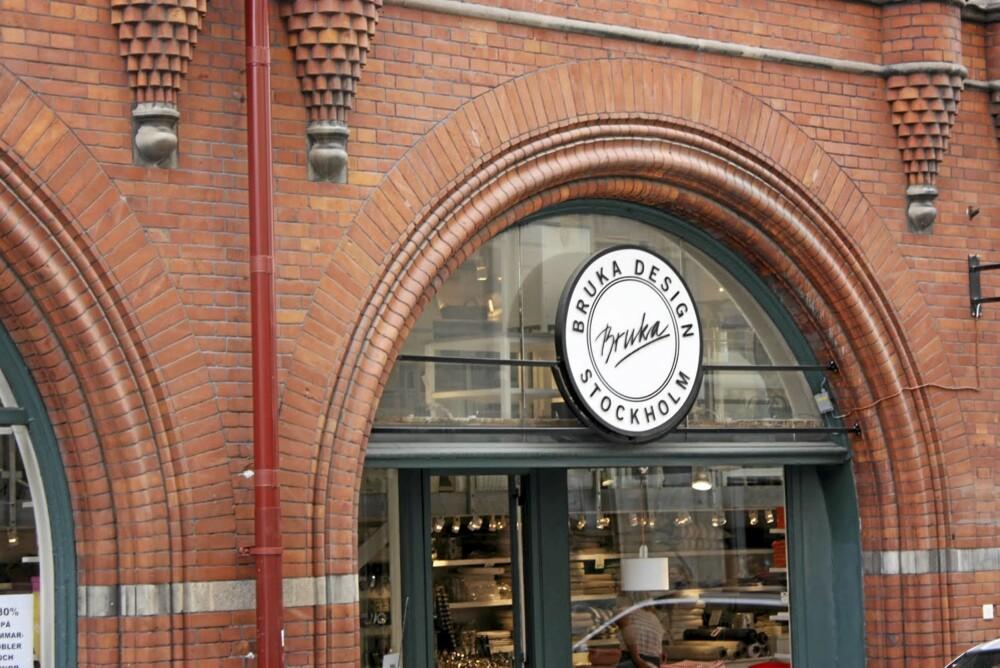 BRUKA DESIGN: Varer fra dette merket fører mange steder i Norge også, men her er flagship butikken.
