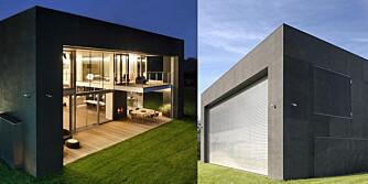 ÅPNE OG LUKKE: Huset kan åpnes og lukkes ved hjelp av bevegelige betongpaneler.