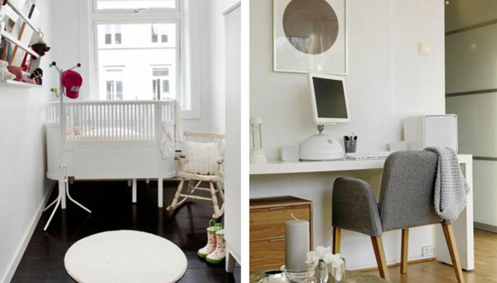 LYSE FARGER: Hvite vegger virker forstørrense på små rom.