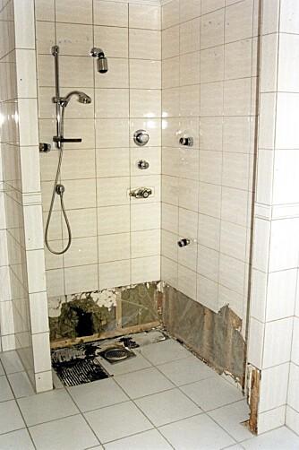 DÅRLIG GRUNNARBEID: Badet er bygningsteknisk krevende å oppføre, og i tilfelle lekkasje blir skadene store.