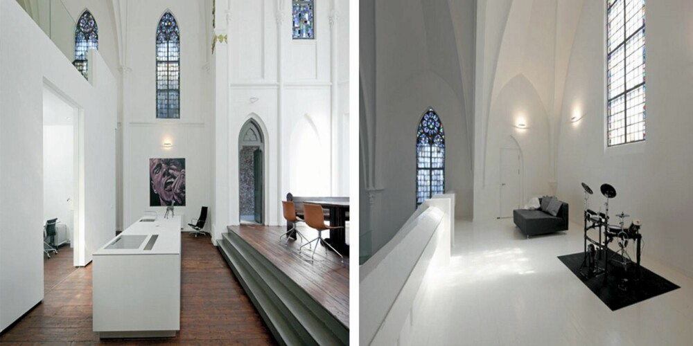 NOE GAMMELT, NOE NYTT: Det er spennende å se hvordan arkitektene har kombinert det moderne interiøret med det gamle bygget.