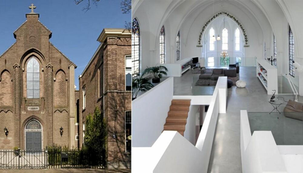 HIMMEL OG HUS: Kirken i Nederland ble til flott byhus.