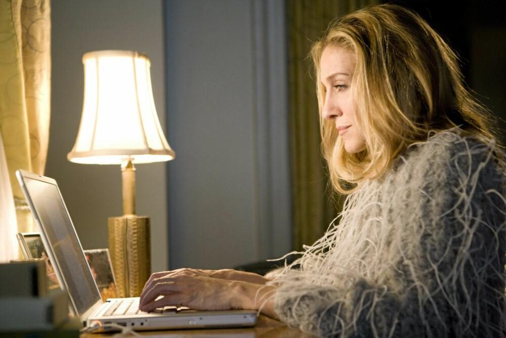 MED UTSIKT: Carrie kikket ut på nabolaget fra hjemmekontoret. I virkeligheten hadde hun sett rett inn i øynene på en bøling turister.