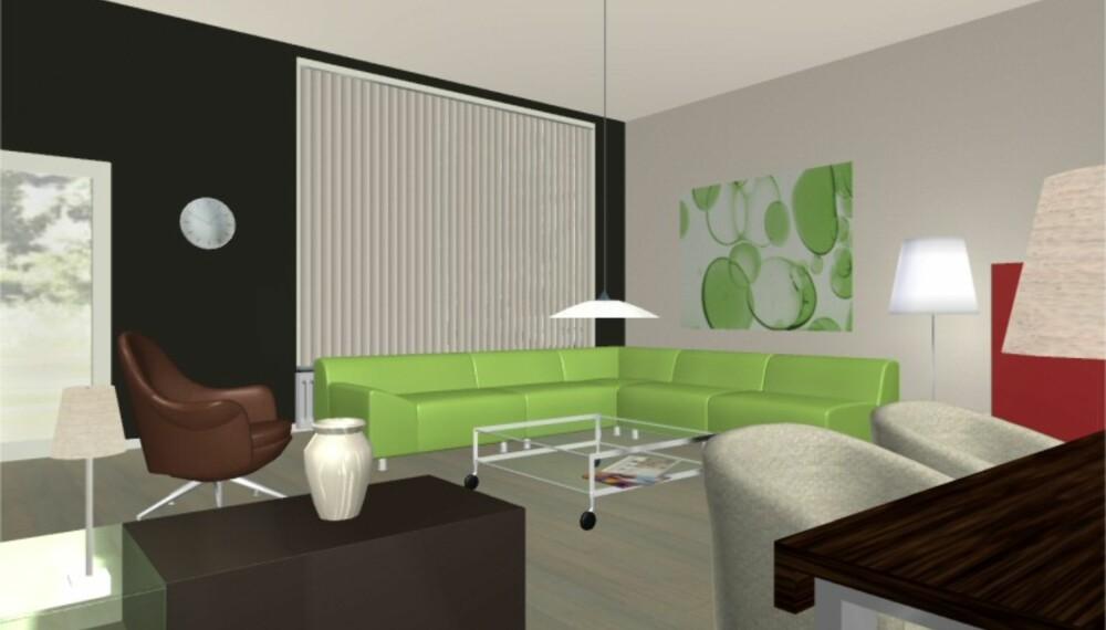 Ekte 3D-teknologi gjør at du får både skygger og lyssetting i boligplanleggeren.