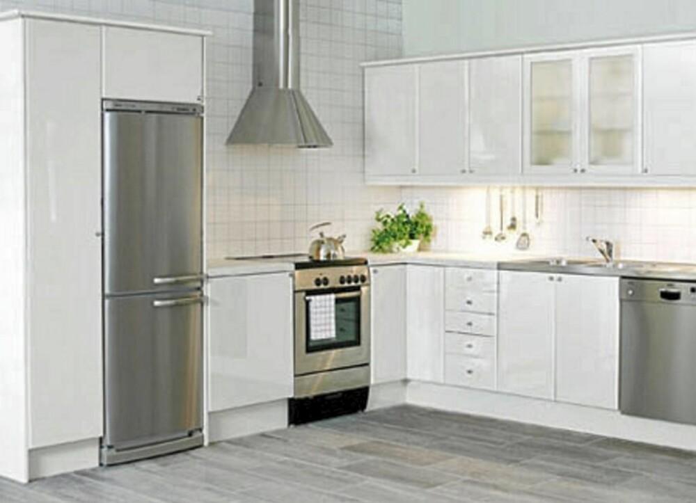 PERFEKT KJØKKEN: Oppvaskkum, stekeovn og kjøleskap skal ideelt sett danne en trekant, hvor den totale lengden på sidene skal ligge mellom 3,60 og 7 meter.