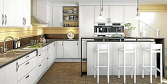 PERFEKT KJØKKEN: Den optimale løsningen på kjøkkeninnredningen starter med en god planlegging.