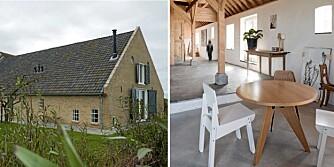 HELT NY: Den gamle gården i Nederland har nå blitt en rustikk og moderne bolig og studio for designteamet Ina & Matt