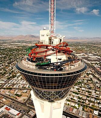 Stratosphere Towers i Las Vegas kan smykke seg med tittelen verdens høyestliggende fornøyelsespark.