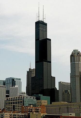 The Sears Tower i Chicago. Her kan du gå på toalettet 412 meter over bakken.