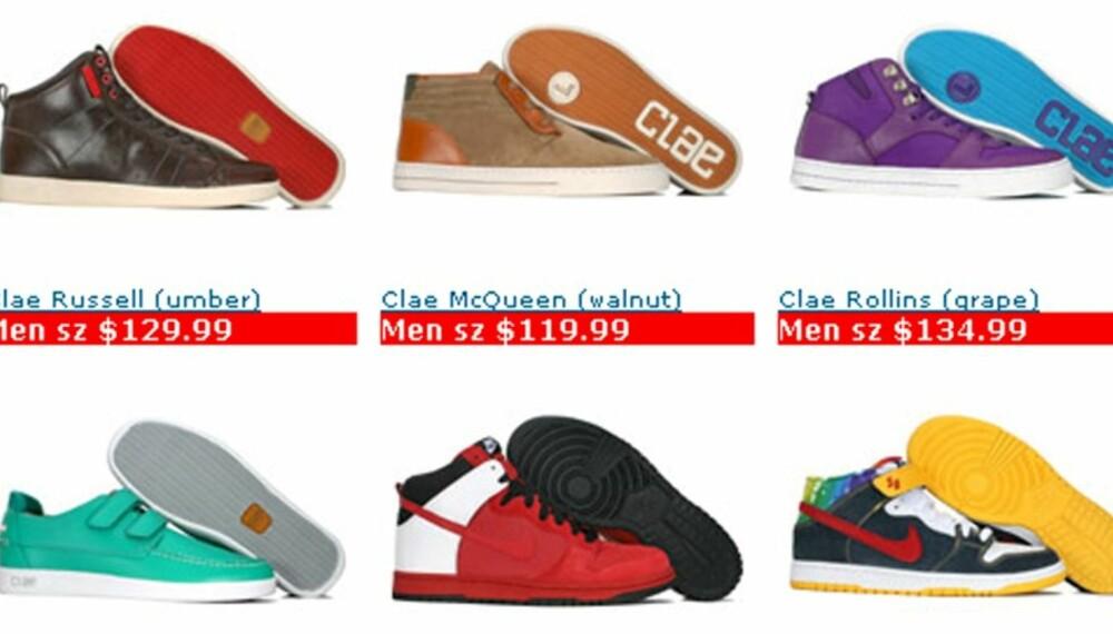 KORTTENKT: Pickyourshoes.com har mange fine sko. Men kravet til kunder om å sende bilde av kredittkortet på epost vekker skepsis.