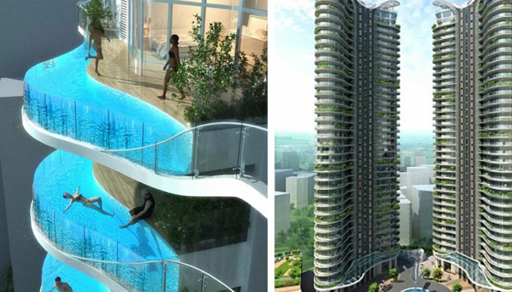 UNIK ARKITEKTUR: I Mumbai i India skal man etter planen bygge disse unike høyhusene.