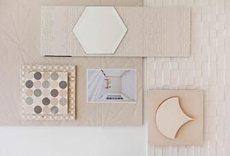 KLASSISK: Rektangulær flis lengst til høyre: Pocelanosa Mosaico zen blanco, 31,6 x 90 cm, kr 1015 pr. kvm, fagflis.no. Kvadratisk, nede til høyre: Offwhite sementflis 20 x 20 cm, kr 1150 pr. kvm, far-far.no. Utskåret, ligger på kvadratisk flis til høyre: Paris Cabaret cream, 14,8 x 14 cm, kr 11 100 pr. kvm, itadesig.no. Rektangulær øverst til venstre, under speilflis: Mutina bas-relief Garland bianco, 18 x 54 cm, kr 4075 pr. kvm, fagflis.no. Speilflis, midten øverste rad: Speilflis fra Seletti, 20 x 20 cm, kr 69 pr. stk., eddainterior.no. Stor, kvadratisk flis med papirmønster, øverste til venstre: Mutina Folded bianco, 60 x 60 cm, kr 1760 pr. kvm, fagflis.no. Under fotografi, lengst til venstre: Milanese flower, 20 x 20 cm, kr 13 600 pr. kvm, itadesign.no. Under fotografi, med rundinger: Milanese Mixed spot, 15 x 15 cm, kr 13 660 pr. kvm, itadesign.no. Flisene på fotografiet heter Incontro Floorboards og er håndlagde fra produsenten Made a Mano, pris på forespørsel, madeamano.com.