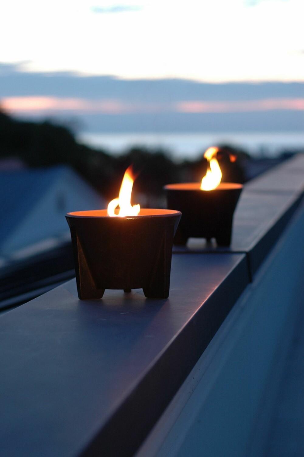 FYR OPP STUMPENE: Den smarte brenneren Marschall Outdoor fra Vinnaljus gjør det mulig å utnytte energien i stearinrester det ellers er vanskelig å brenne opp. Ved å plassere restene ved siden av flammen, smelter stearinen og blir til ny brensel. Veken ender opp i bunnen av krukken, kr 1330, norrgavel.no.