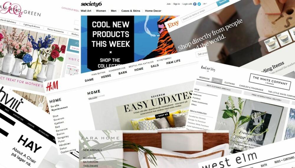 f47152e9 STORT UTVALG PÅ NETT: Det florerer av fine, kule interiørbutikker på nett,  og