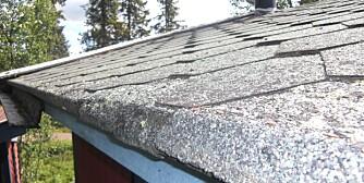 Tak og shingel: Ser du sprekkdannelser i overflaten av shingel, eller spikere som kommer opp, kan det være tegn på at du må legge taket på nytt. Det samme gjelder hvis taket er veldig tørt og sprøtt.