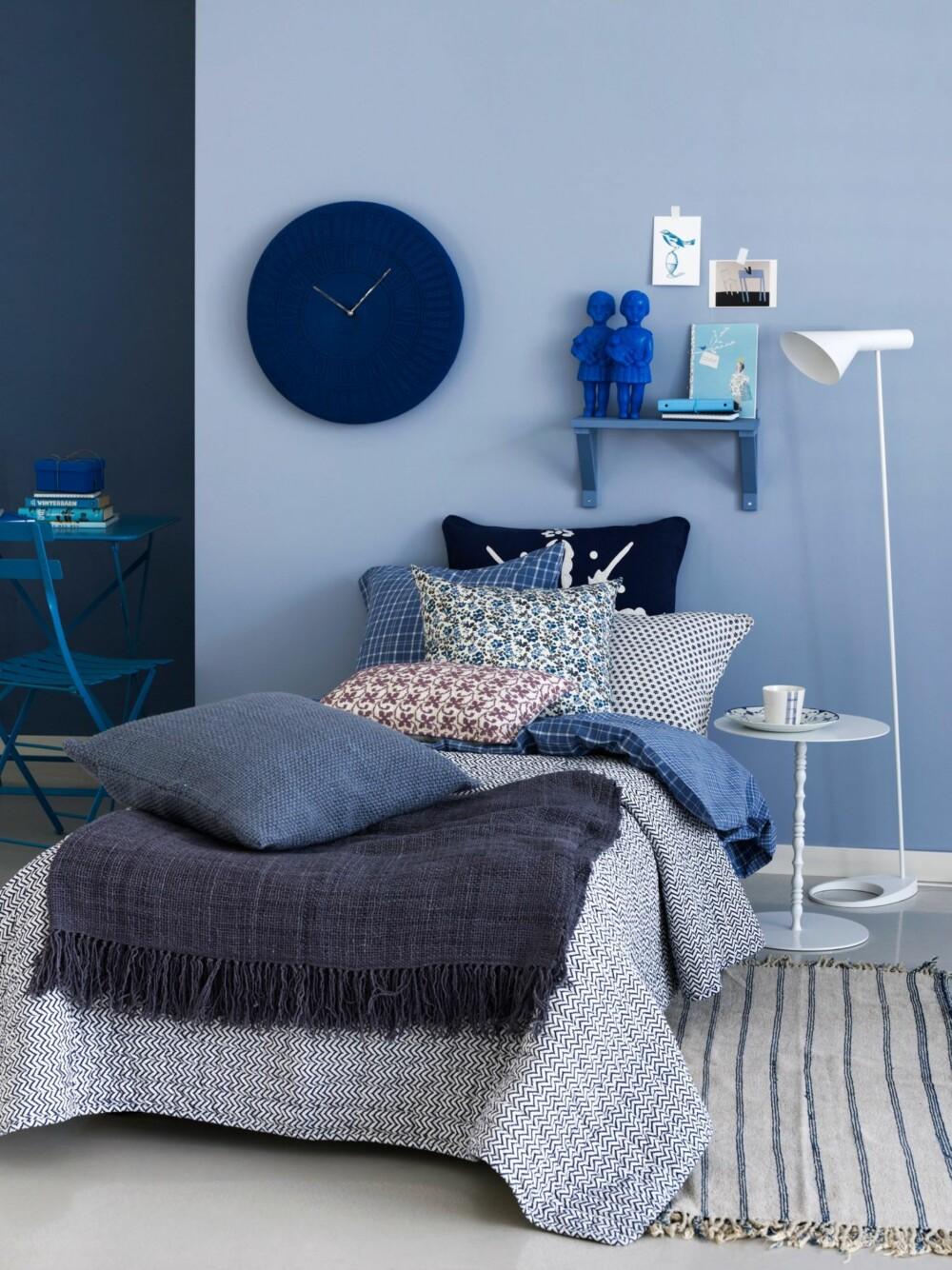 SOV I RO: Åndedrettet, pulsfrekvensen og blodtrykket synker når vi utsettes for blått. Fargen kan derfor fungere godt på soverommet.