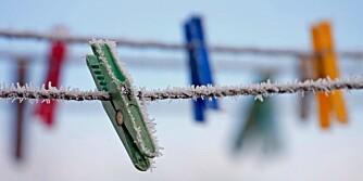STED FOR KLESTØRK: Du kan godt tørke klær ute når det er kuldegrader. Det tar bare litt lenger tid enn når det er plussgrader.