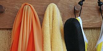 BAKTERIEBOMBE: Håndklær kan bli rene bakteriebomber uten at det syns noe særlig, men man skal heller ikke vaske dem for ofte.