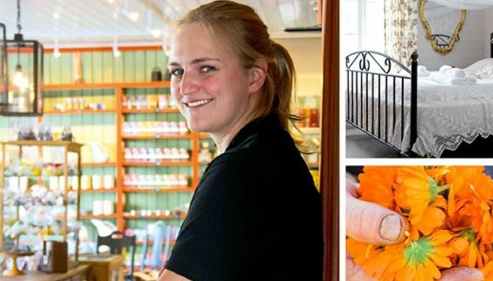 FJORÅRETS VINNER: Anna Haugstad Avdem (24) og hennes lokalmatbutikk Avdemsbue på Lesja ble kåret til vinner i gründerkåringen Årets Landlige Spire i fjor.
