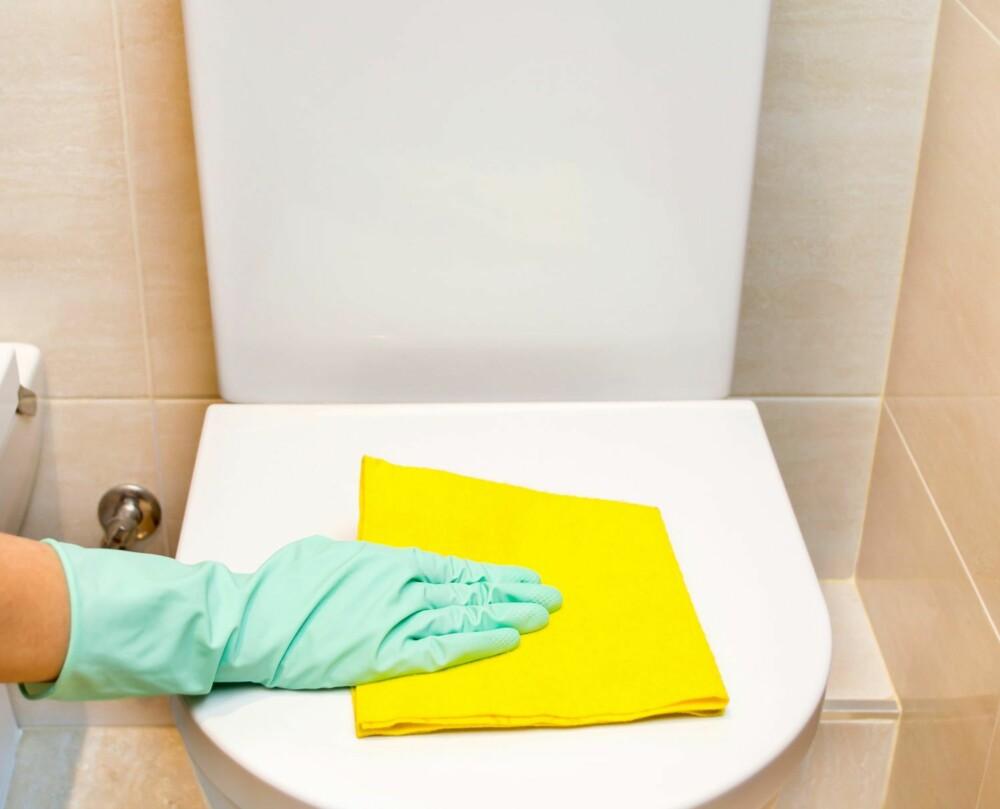 RENGJØR LITT HELE UKEN: Tar du en liten runde med vaskekluten innimellom ved behov, hoper det seg ikke opp til én storvask i uken.