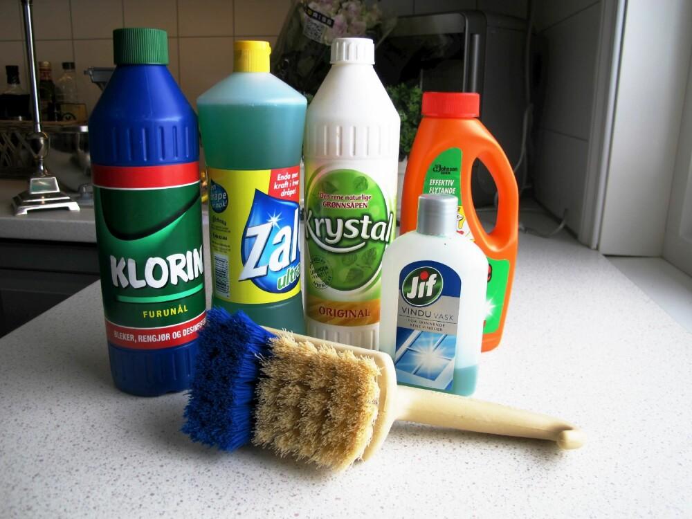 Feil vaskemiddel kan gjøre rengjøringen  tyngre.