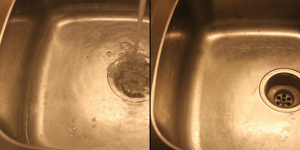 TJA: I veldig skitne vasker vil du kanskje se virkningen bedre enn her.