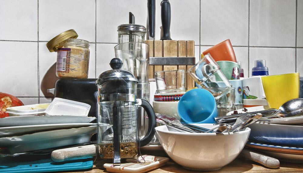 AKTIVT ROT: Rot som er der midlertidig, som for eksempel skitne tallerkener, er det enkleste å gjøre noe med. Det er når du virkelig skal omorganisere at det begynner å bli utfordrende.