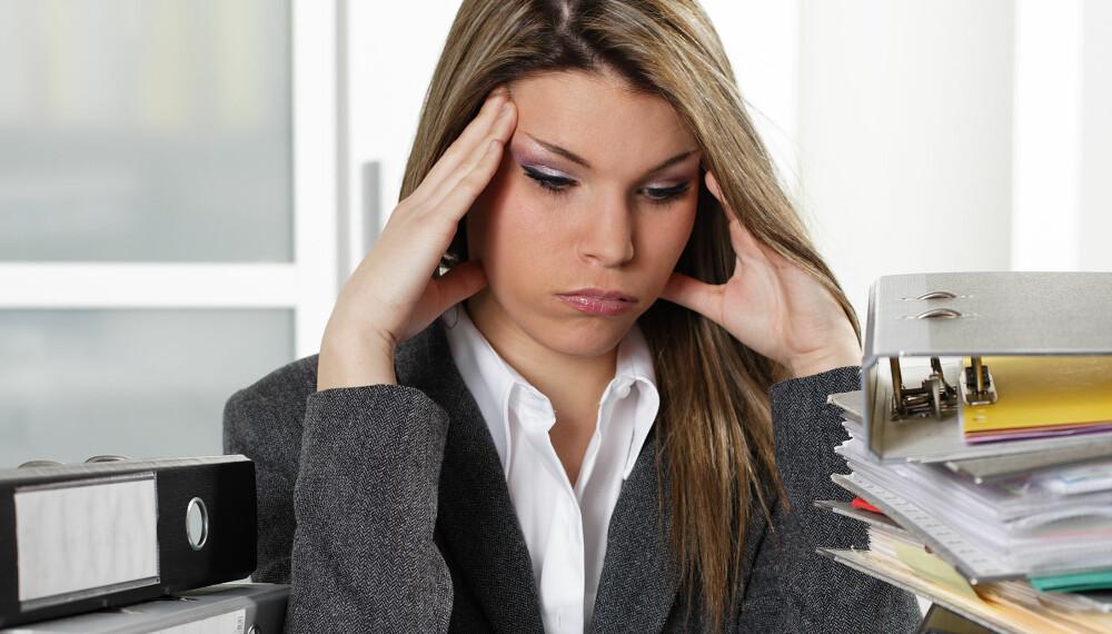 PASS PÅ: Prestasjonsevnene dine begynner å dale etter åtte timer på jobb, og deretter går det fort nedover for hver time.