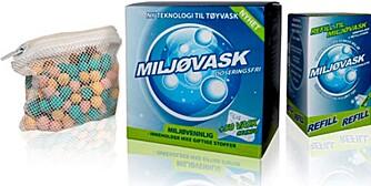 TESTET: Miljøvask selges i mange norske dagligvarebutikker.