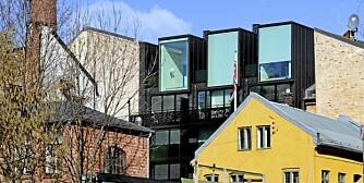 KJEMPER OM PRIS: Syv bygg kjemper om Statens Byggeskikkpris i 2011. Bildet viser Korsgata 5 som er det eneste privatboligprosjektetet som er nominert.