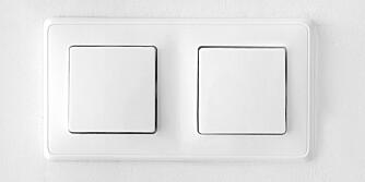 KJEDELIGE GREIER: Lysbrytere trenger nødvendigvis ikke se slik ut. Nå kan du til og med få lysbrytere som matcher resten av interiøret ditt.