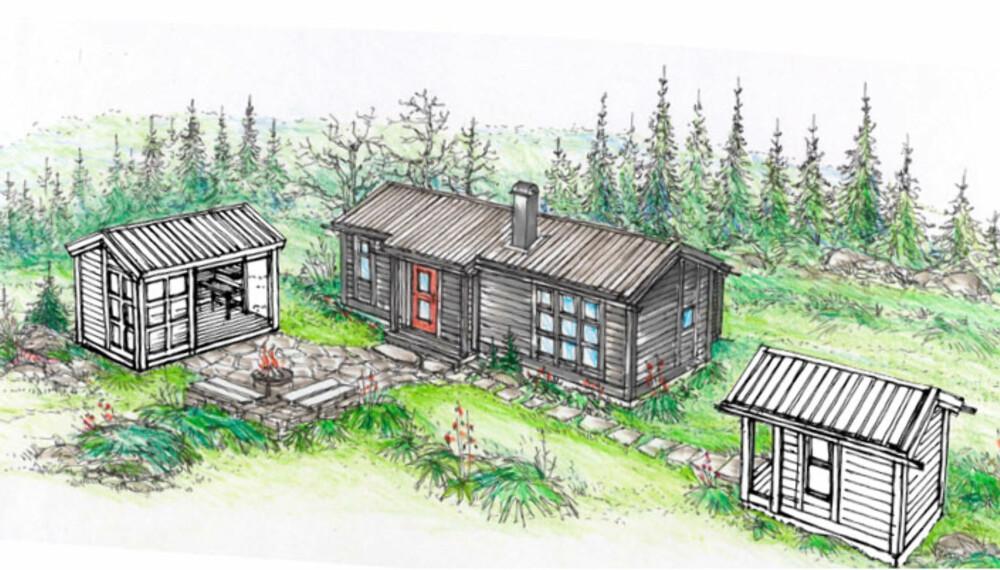 HYTTELIVSHYTTA: Vi har designet eksteriøret, du kan selv designe interiøret og kjøpe inn fra lokalt byggvarehus.