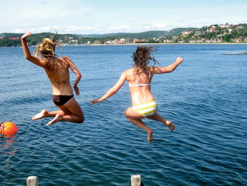 HOPPER UTI: Årets første bad skjer gjerne allerede i april.