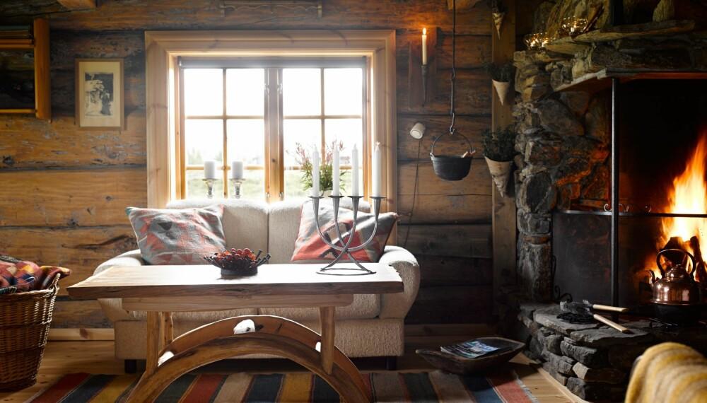 HYTTE MED SJEL: Hytteeieren har lagt ned mye egeninnsats i denne hytta ved Hornsjø.
