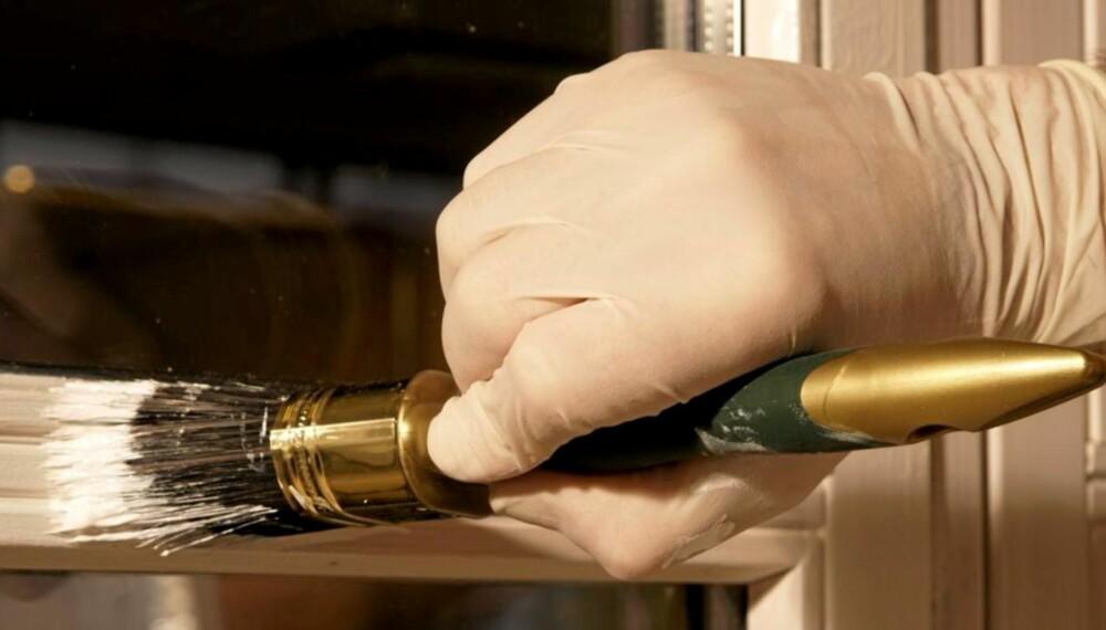 GODT UTSTYR: Pensler bør være av god kvalitet hvis du skal gå løs på vinduer og vegger.