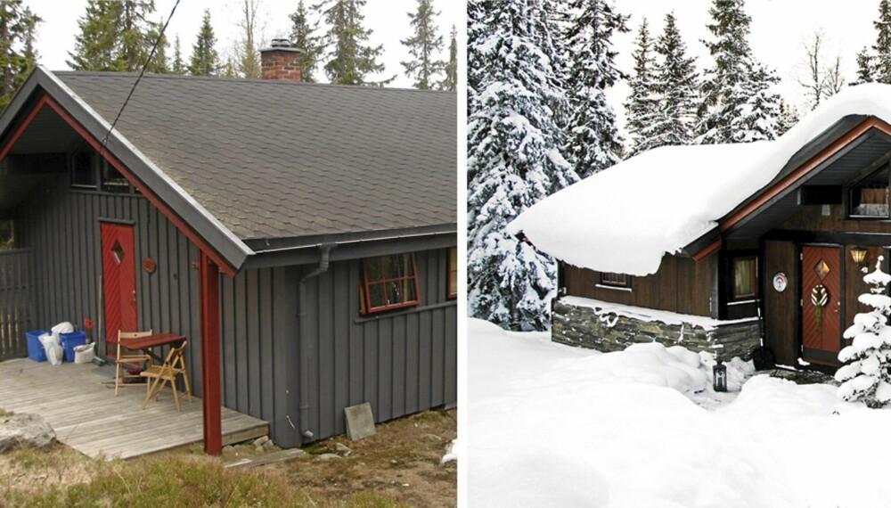 FORANDRINGEN: 70-talls hytta fikk en ny soveromsfløy, samt at den også ble bygget på i lengderetning. I tillegg ble den utvendige kledningen skiftet ut.