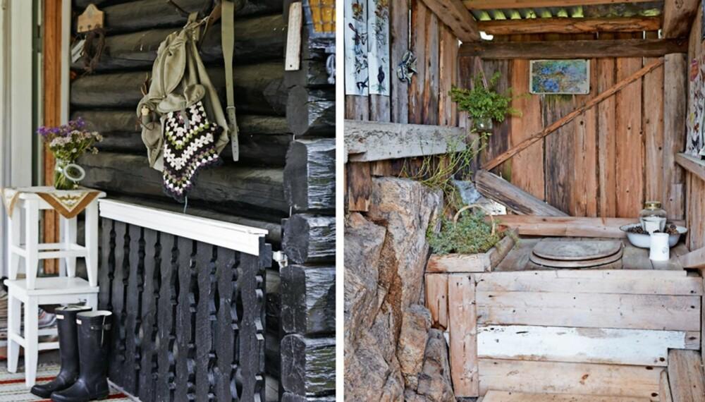 DET GODE HYTTELIV: Hytta til Gry ligger på en liten høyde i nærheten av Skrimfjellene. Familien trives med det helt enkle hyttelivet.