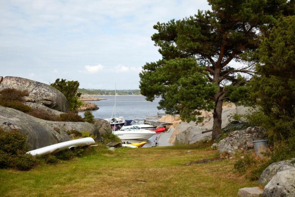 FIN UTSIKT: Fra hytta er det utsikt gjennom kløfta mot nord og Løperen, som er hovedleden inn mot Fredrikstad.