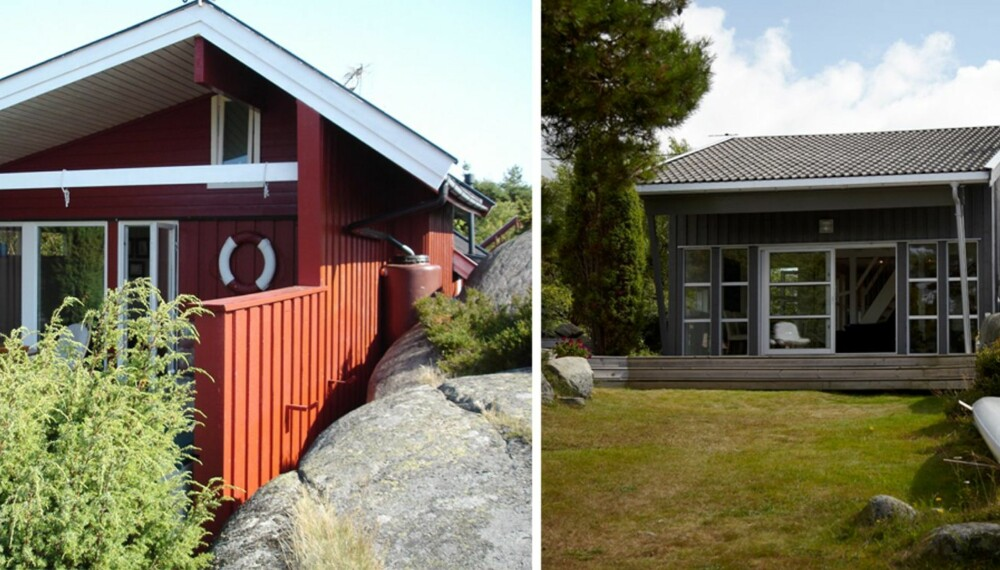 STOR FORANDRING: Den gamle hytta bygget på 1950-tallet var avskåret fra utsikt mot sydvest, og trengte en renovering.
