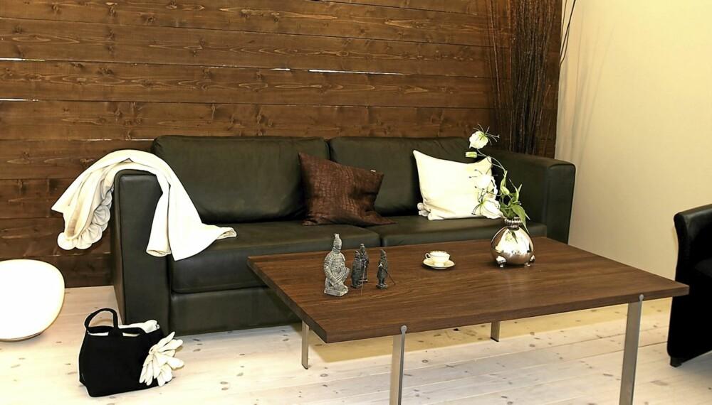 LUNE VEGGER: Med interiørbeis eller panellakk vil trestrukturen skinne gjennom, og gi et levende og lunt uttrykk.