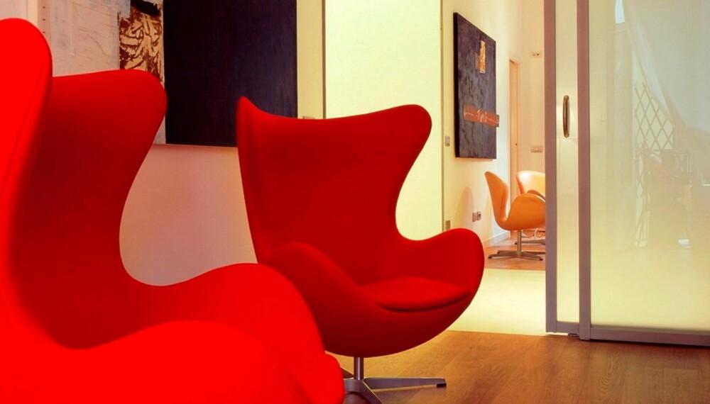 ETTERTRAKTET: Arne Jacobsens Egget er en av designkopiene som blant annet selges på nettet, men som nødvendigvis hverken er lovlig å selge eller innføre til Norge.