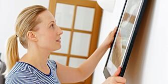 UTLEIER BESTEMMER: Selv det å henge opp et bilde, kan du måtte be en utleier om å få gjøre.