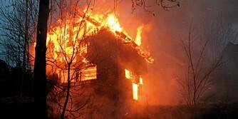 HYTTEBRANNER: Statistikk fra Finansnæringens Hovedorganisasjon viser økning i branner.