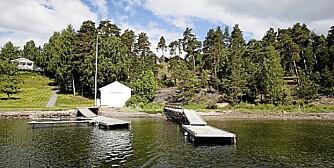ET KUPP? Carl C. Tybring-Gjeddes eiendom på Grimsøya er til salgs. Grimsøya er en av perlene i Indre Oslofjord.