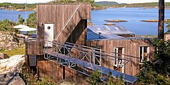 FORMET DISKRE: Arkitekten har plassert hytta slik at den ikke skal virke skjemmende på omgivelsene.